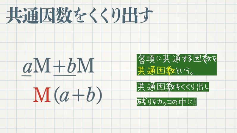 因数分解 公式⓪-共通因数をくくり出す-