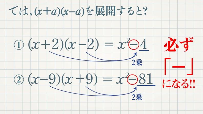 4つの乗法公式④