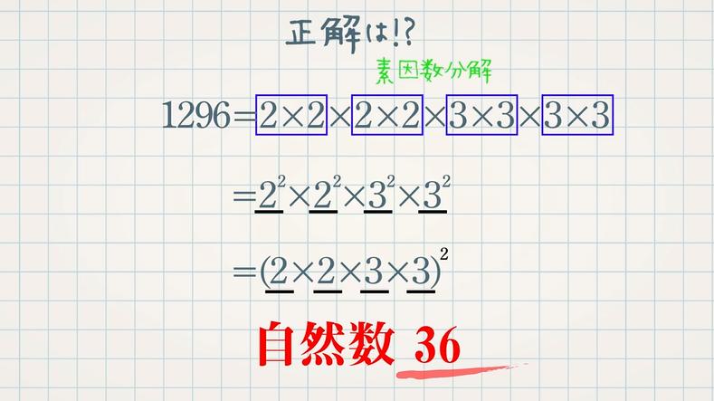 素数と自然数の平方(2乗)