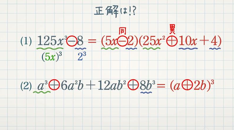 3次式の展開・因数分解