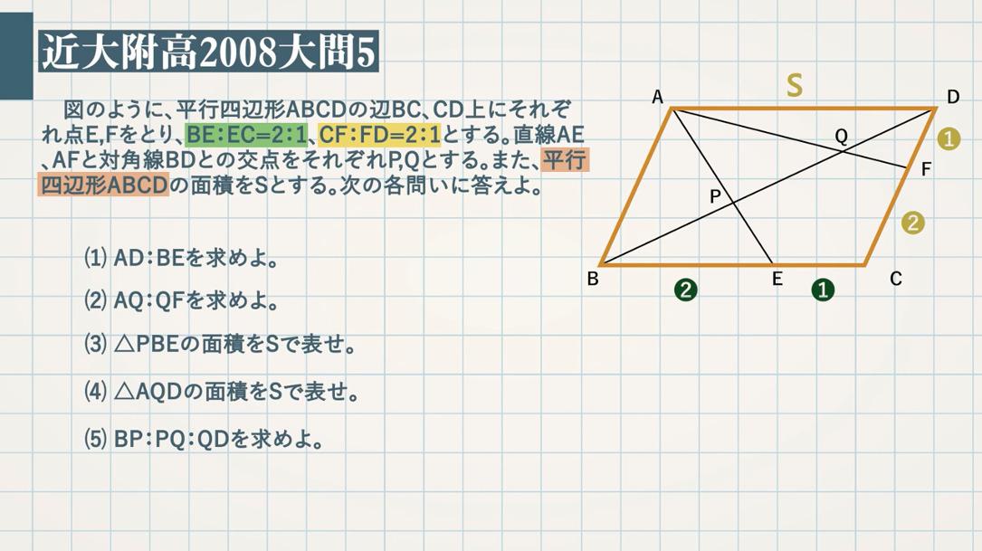 平行四辺形と比